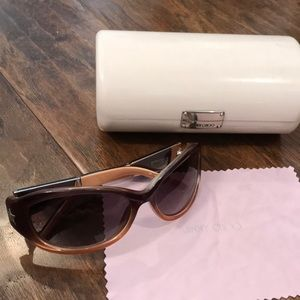 5b7a210ac9e Jimmy Choo Accessories - Jimmy Choo sunglasses with case Kittys